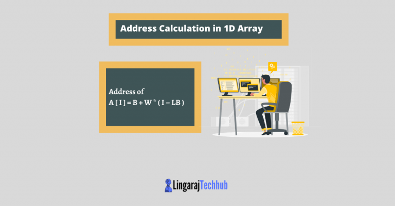 Address Calculation in 1D Array