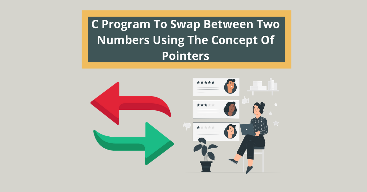 C Program To Swap Between Two Numbers Using The Concept Of Pointers