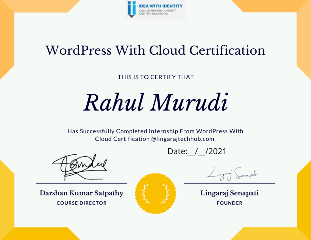WordPress With Cloud Certification