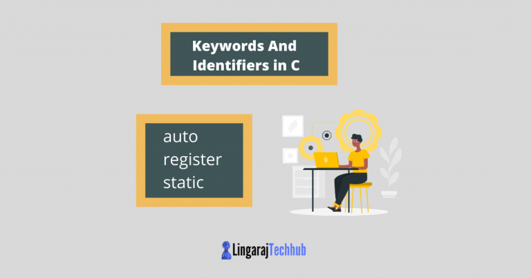 keywords and identifiers in c programming