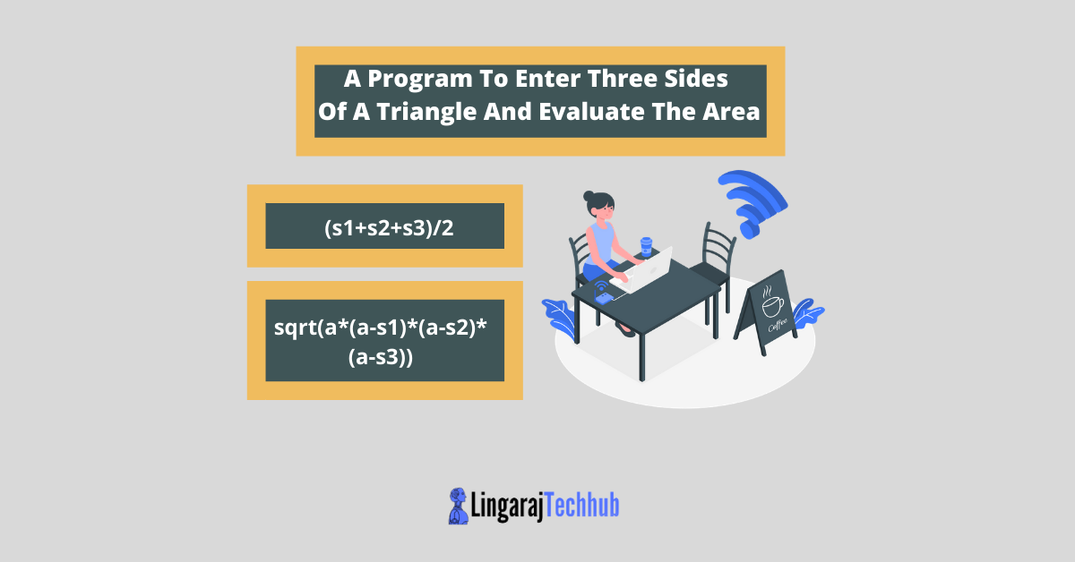 A Program To Enter Three Sides Of A Triangle And Evaluate The Area