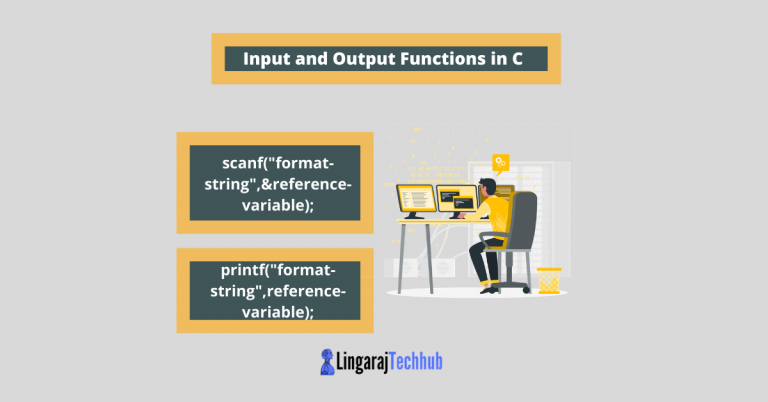 Input and Output Functions in C