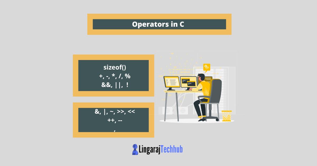 Operators in C in programming