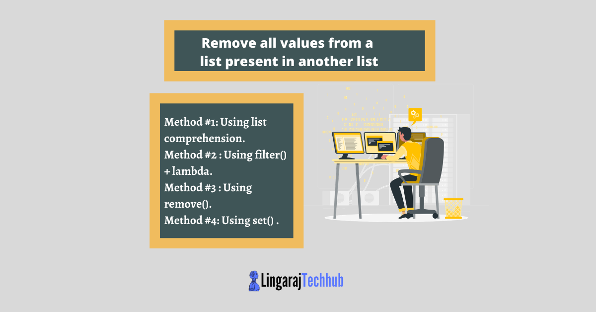 Remove all values from a list present in another list