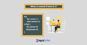 What is nested if-else in C