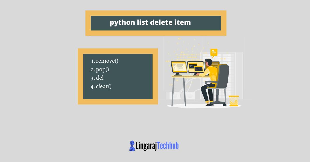 python list delete item