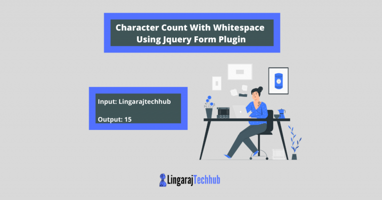 Character Count With Whitespace Using Jquery Form Plugin - Character Counter