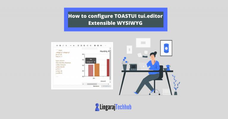 How to configure TOASTUI tui.editor Extensible WYSIWYG