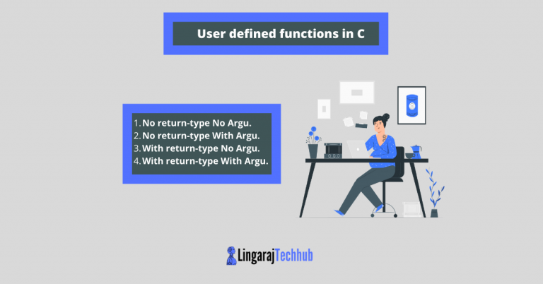User defined functions in C