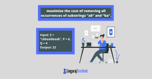 """Write a program to maximize the cost of removing all occurrences of substrings """"ab"""" and """"ba"""""""
