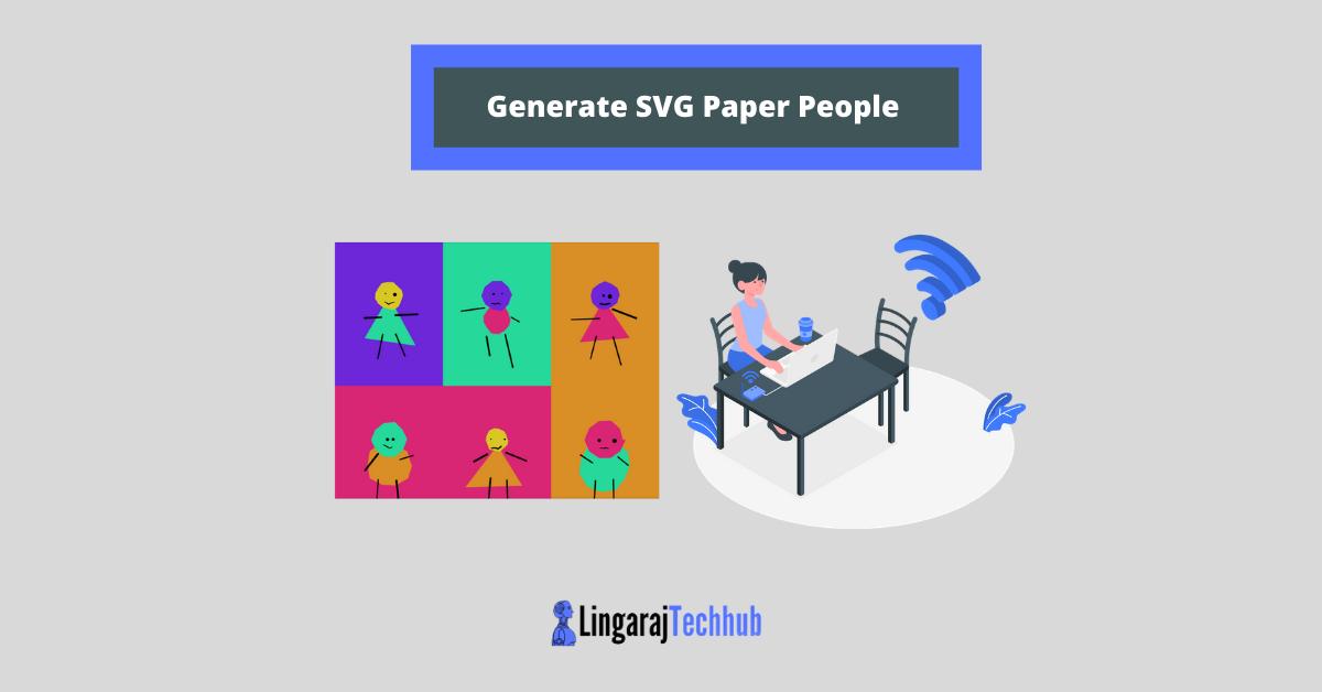 Generate SVG Paper People