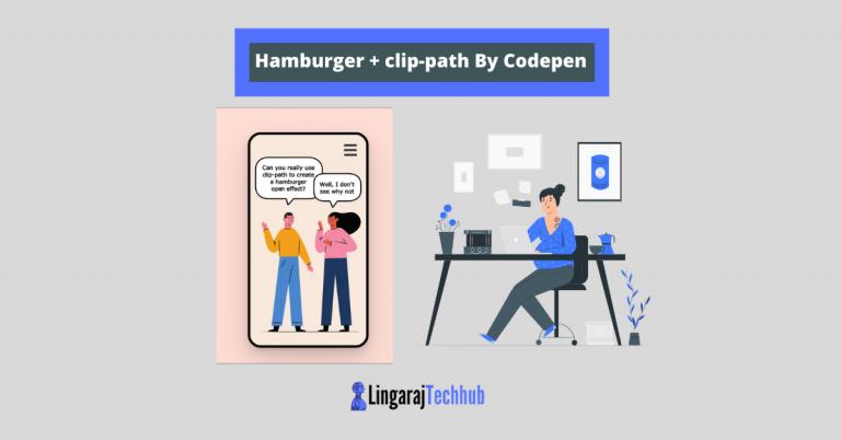 Hamburger + clip-path By Codepen