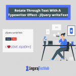 Rotate Through Text With A Typewriter Effect - jQuery writeText
