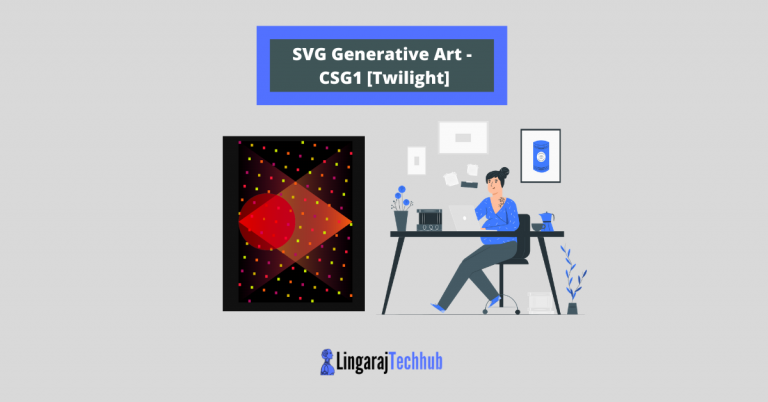 SVG Generative Art - CSG1 [Twilight]