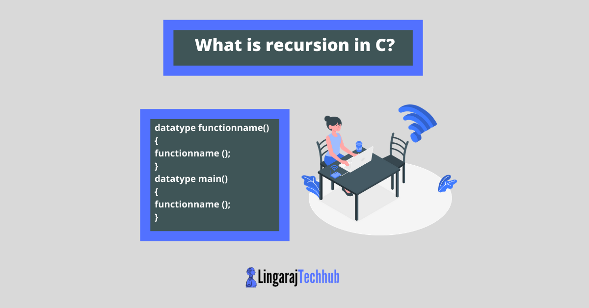 What is recursion in C