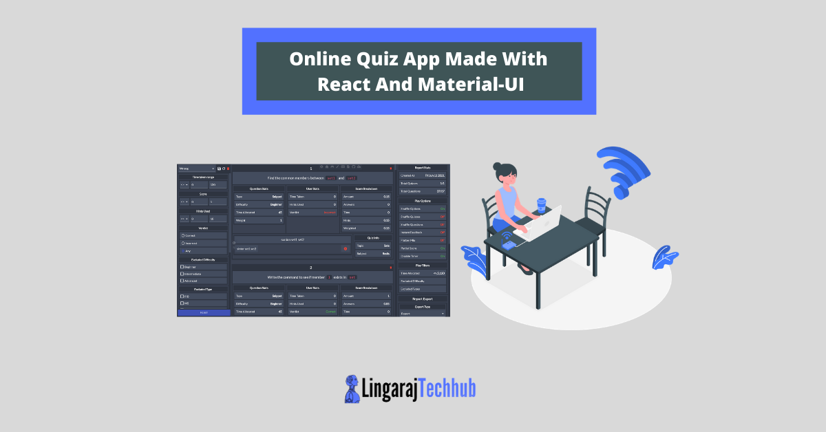 Online Quiz App Made With React And Material-UI