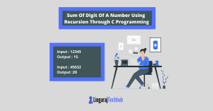 Sum Of Digit Of A Number Using Recursion Through C Programming
