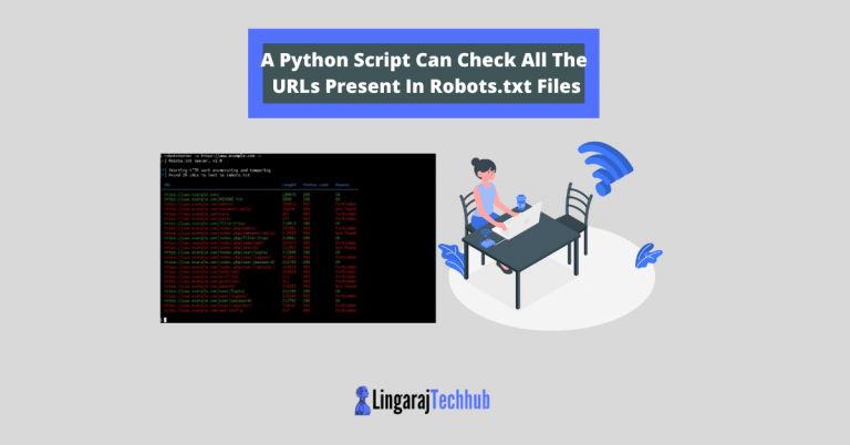 A Python Script Can Check All The URLs Present In Robots.txt Files