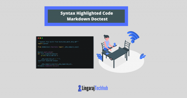 Command-line Program to Test Python Syntax Highlighted Code Markdown Doctest