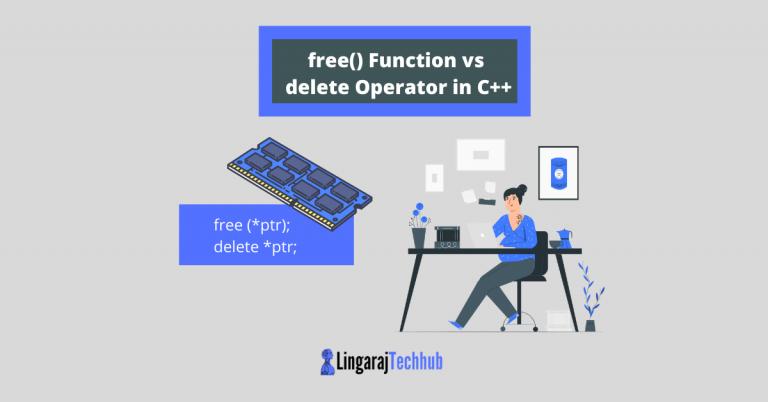 free() Function vs delete Operator in C++