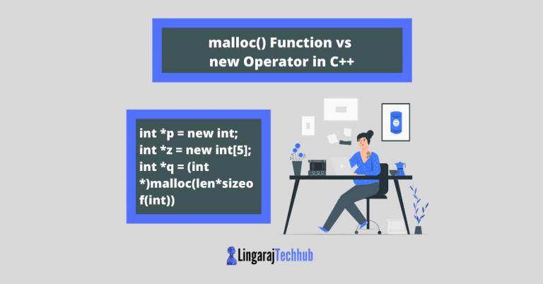 malloc() Function vs new Operator in C++
