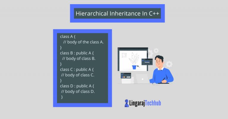 Hierarchical Inheritance In C++