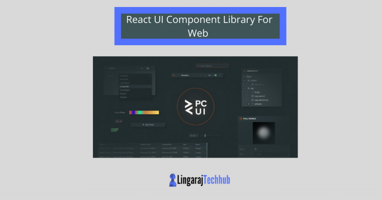 React UI Component Library For Web