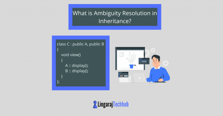 What is Ambiguity Resolution in Inheritance