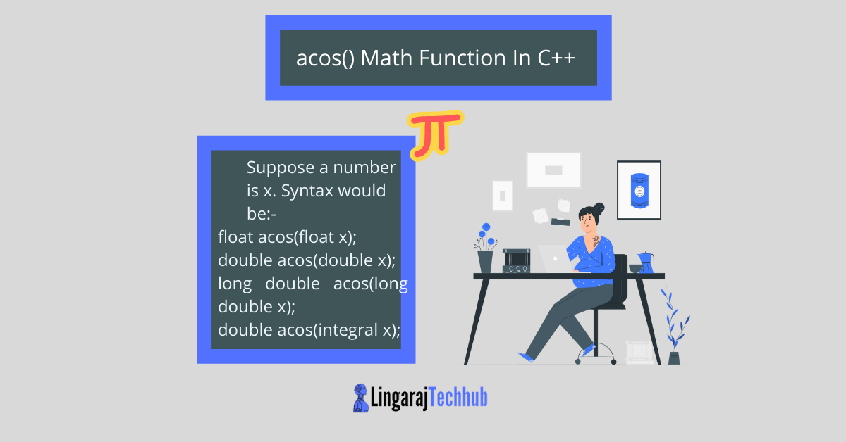 acos() Math Function In C++