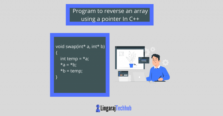 Program to reverse an array using a pointer In CPP